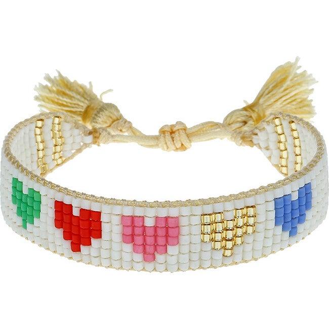 Kids' Rainbow Hearts Bracelet