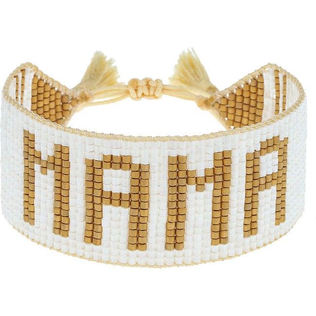 White & Gold MAMA Bracelet