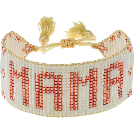 White & Pink Flower MAMA Bracelet