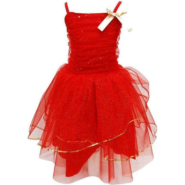 Sparkle Celebration Dress, Red