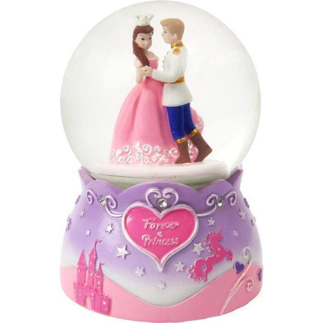 Princess Large Rotating Snow Globe, Lilac
