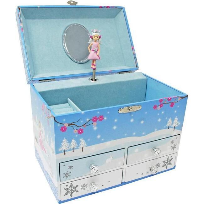 Snow Princess Medium Music Box, Blue