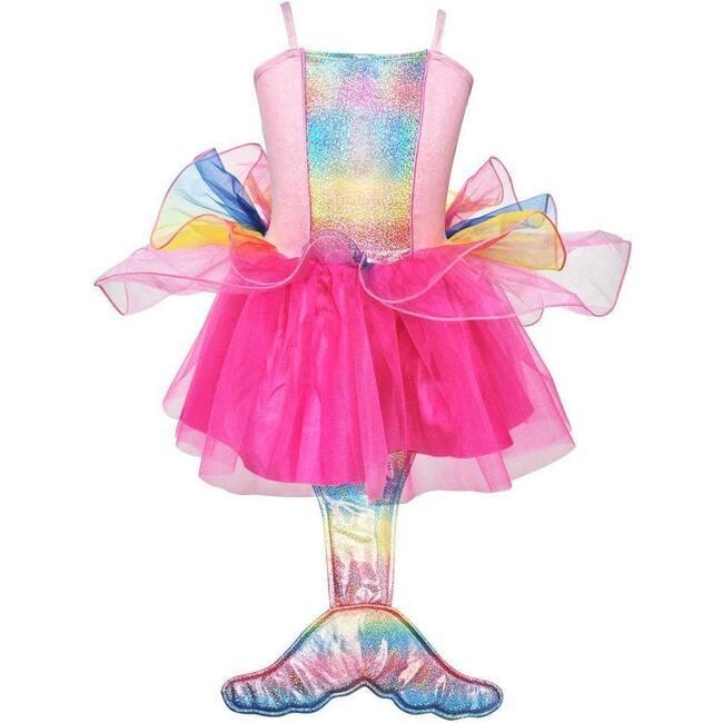 Mermaid Princess Dress, Multi Pink