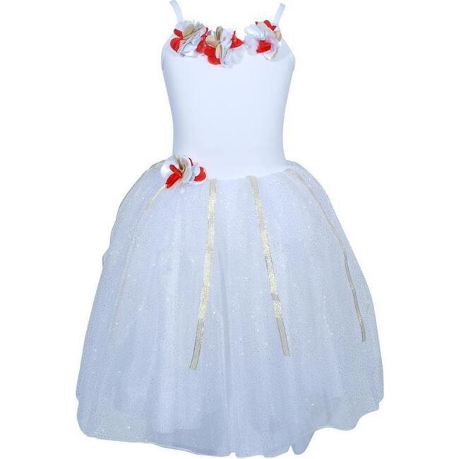 Festive Fairy Petal Dress, White
