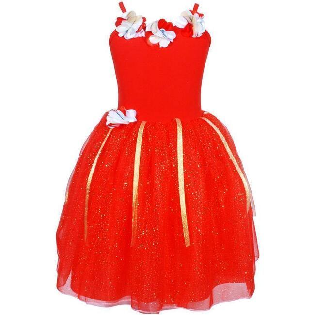Festive Fairy Petal Dress, Red