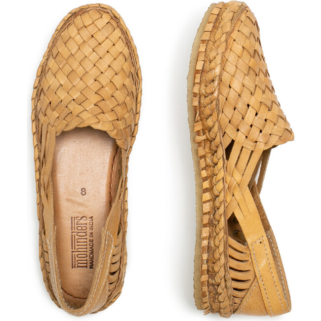 Woven Shoe, Natural Leather