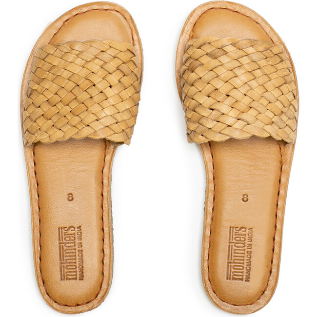 Woven Sandal, Natural Leather