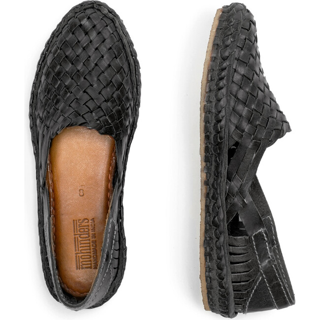 Woven Shoe, Iron-Dyed Leather