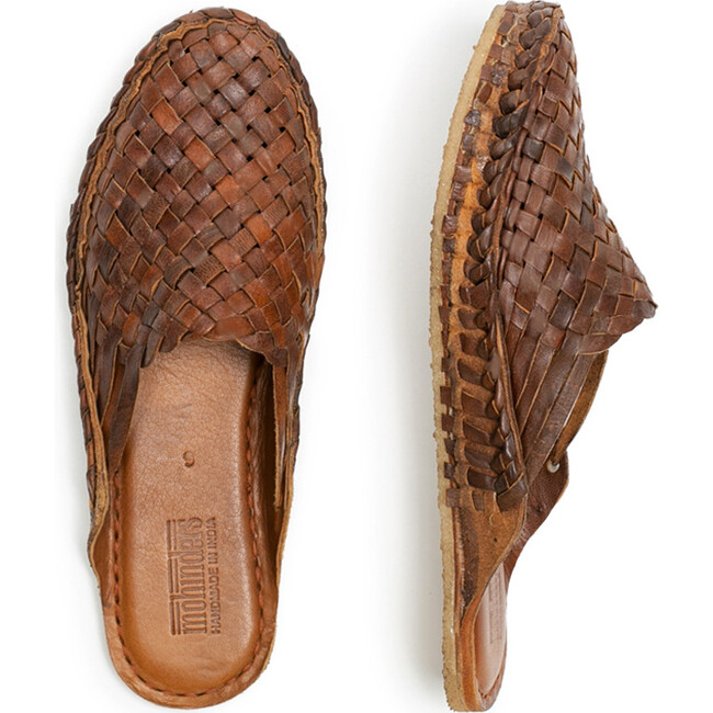 Woven Slide, Oiled Leather