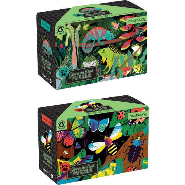 Glow In The Dark Bundle: Frogs and Lizards & Amazing Insects - Puzzles - 1