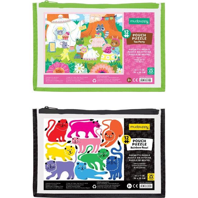 12 Piece Pouch Puzzle Bundle: Tea Party & Rainbow Bear