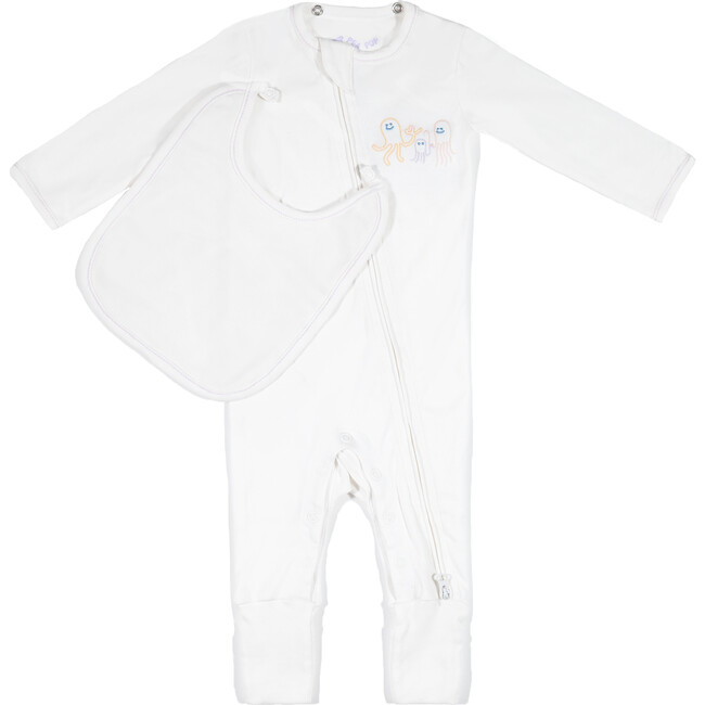 The Babysuit with Bib, On-Point Octopi