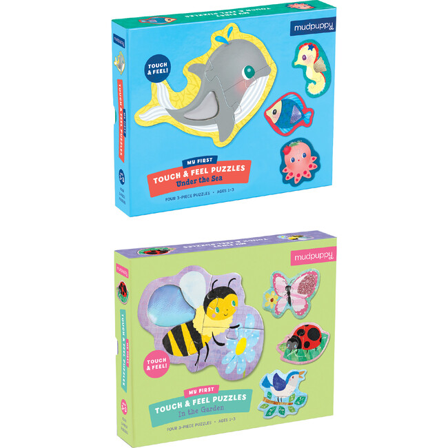 My First Touch & Feel Puzzle Set: Under the Sea & In the Garden