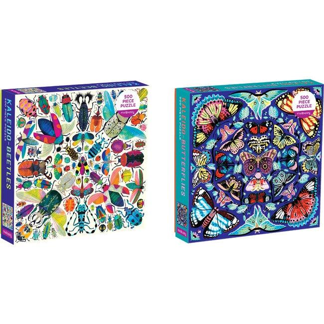 Kaleidoscope Beetles & Butterflies 500 Piece Puzzle Set