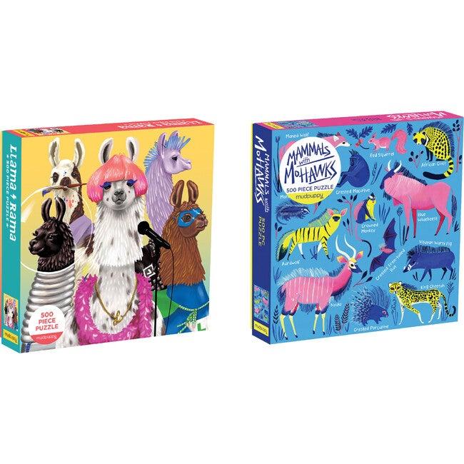 Llama Rama & Mammals with Mohawks 500 Piece Puzzle Set