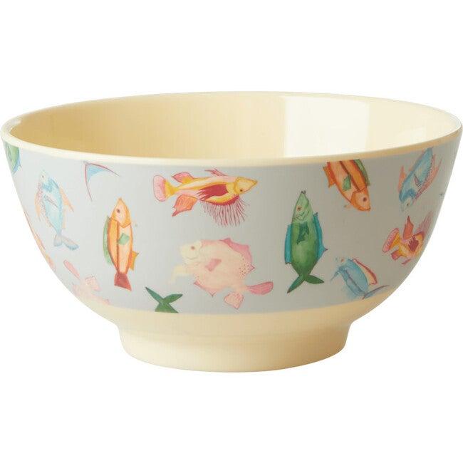Medium Melamine Bowl, Fish