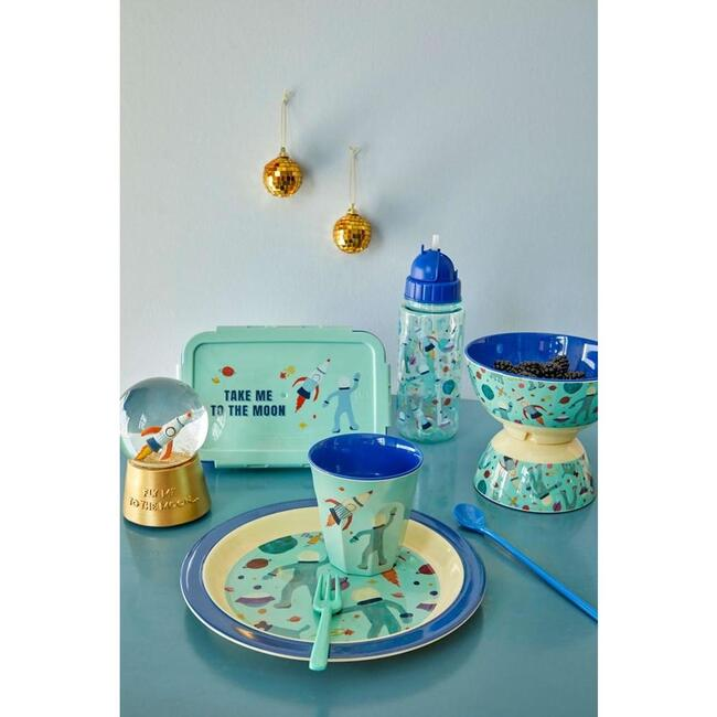 Melamine Kids Lunch Plate, Space