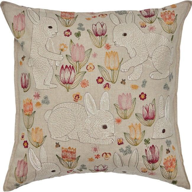 Bunnies & Blooms Pillow