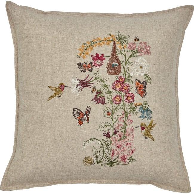 Hummingbird Vine Pillow