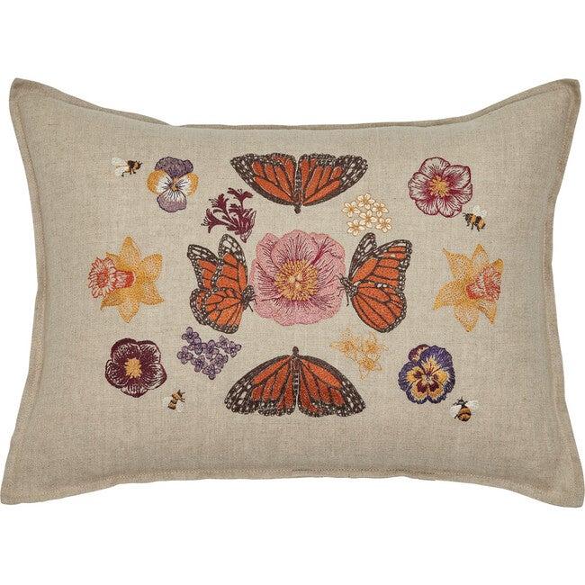 Butterflies & Blooms Pillow