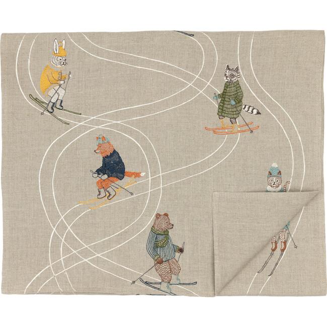 Downhill Skiers Table Runner