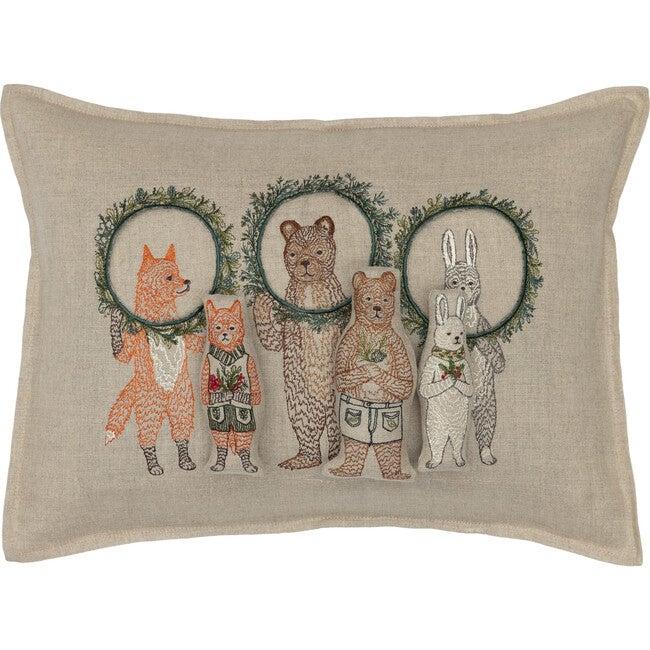 Christmas Wreath Trio Pocket Pillow