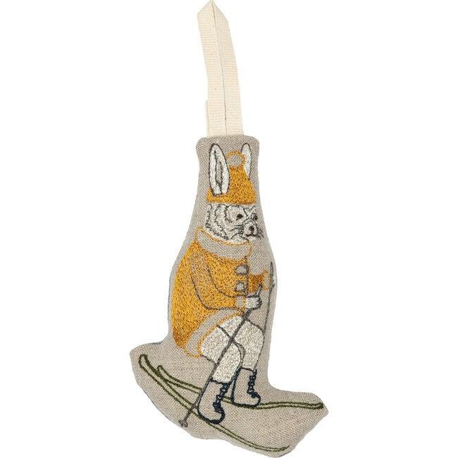 Downhill Bunny Ornament