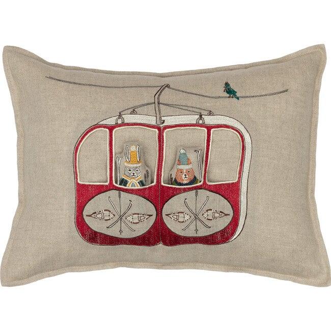 Gondola Ski Lift Pocket Pillow
