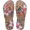 Kids Slim Animal Floral, Crocus Rose - Sandals - 1 - thumbnail
