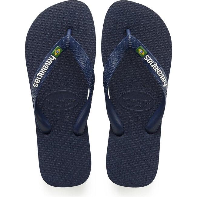 Kids Brazil Logo, Navy Blue - Sandals - 1