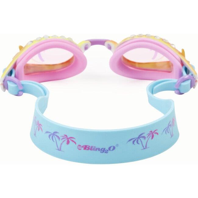 Island Hopping Swim Goggles, Private cabana Blue