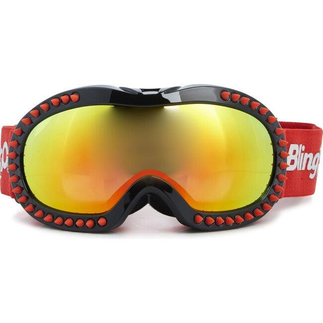 Red Spike Black Frame Ski Goggle - Ski Goggles - 1