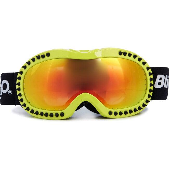Black Spike Lime Frame Ski Goggle - Ski Goggles - 1