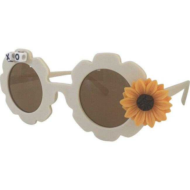 Sunny Sunflower Monogrammable Sunglasses, Beige