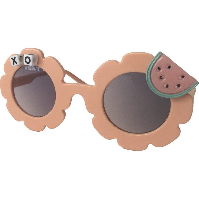 One in a Melon Monogrammable Sunglasses, Peach