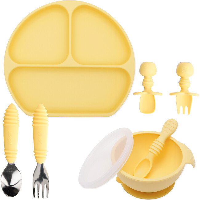 Growing with Bumkins Silicone Set, Pineapple