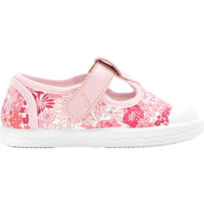 Baby Canvas T-Strap Shoes, Red