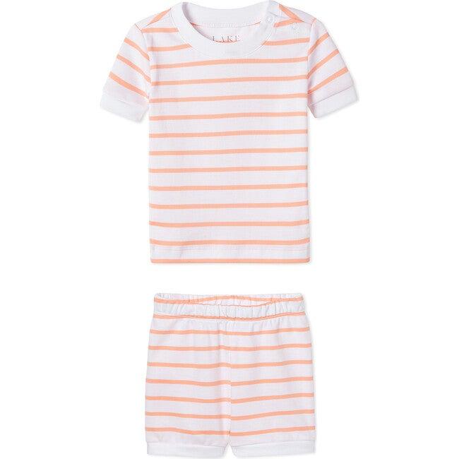 Pima Baby Shorts Set, Papaya