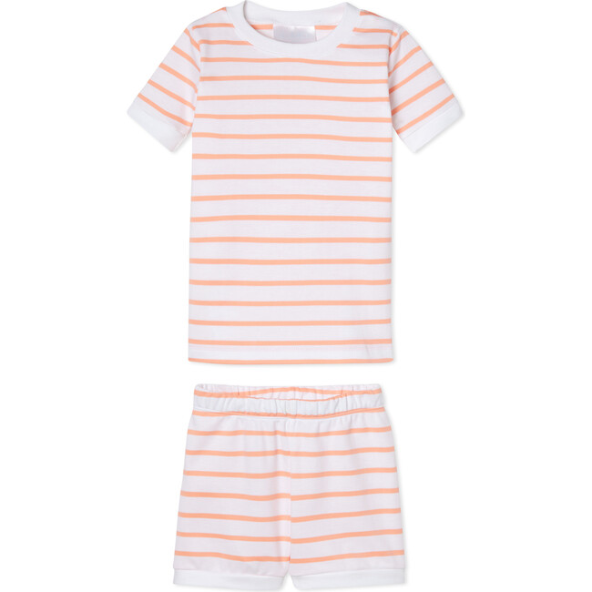 Pima Kids Shorts Set, Papaya