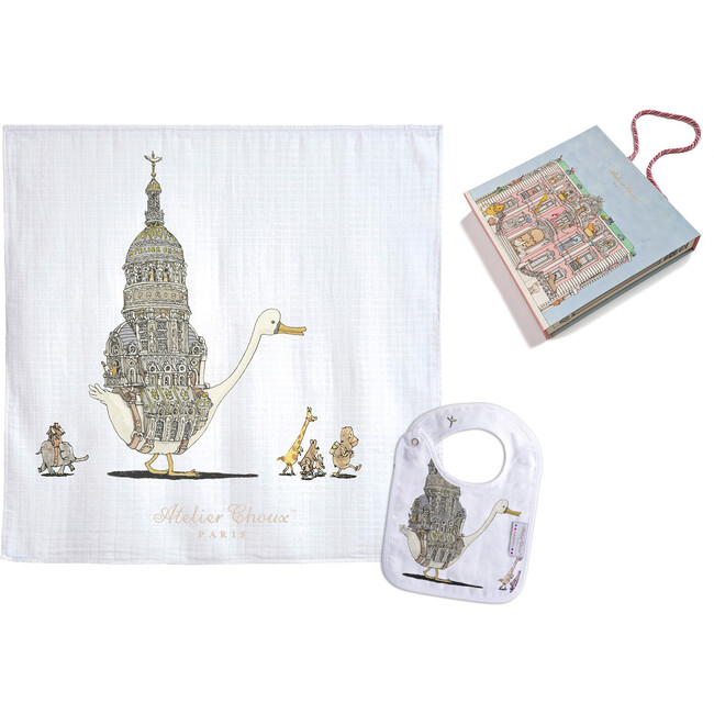 Swaddle & Bib Gift Set, Duckling