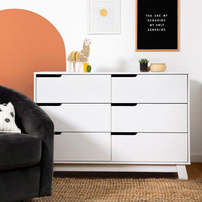 Hudson 6-Drawer Assembled Double Dresser, White