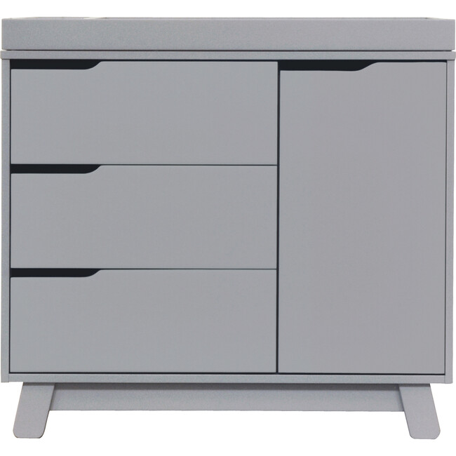 Hudson 3-Drawer Changer Dresser with Removable Changing Tray, Grey