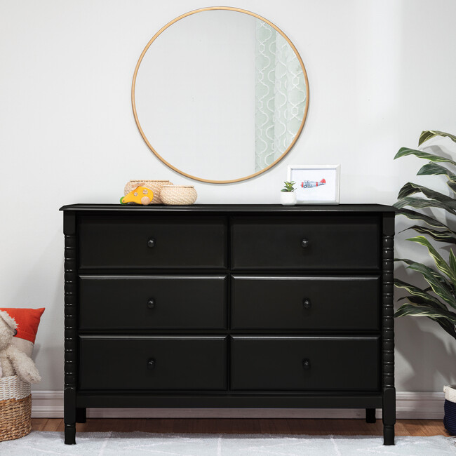 Jenny Lind Spindle 6-Drawer Dresser, Ebony