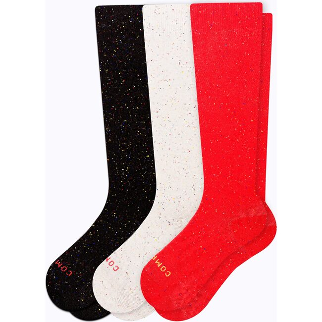 Recycled Cotton Compression Socks – 3-Pack, Mixed