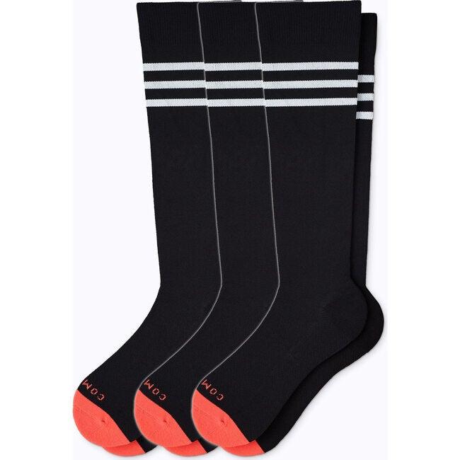 Knee-High Compression Socks – 3-Pack Limited Black/White Varsity