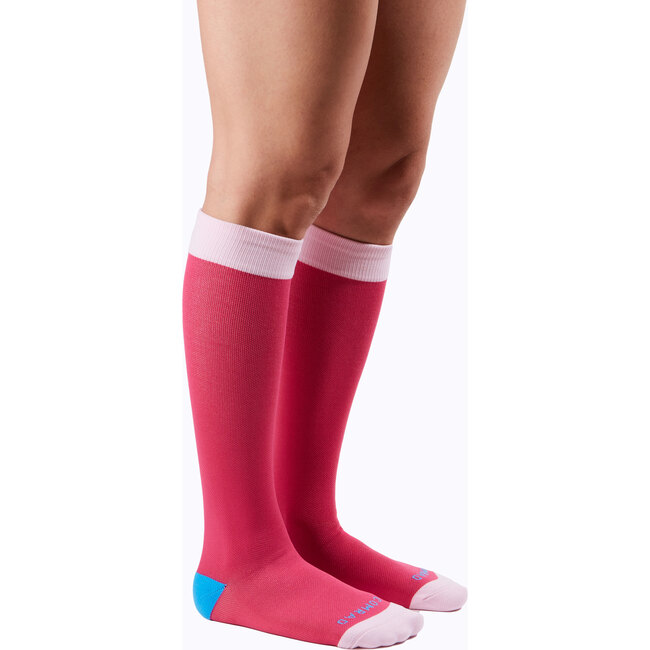 Knee-High Compression Socks – 3-Pack Colorblock Mixed, Vibrant
