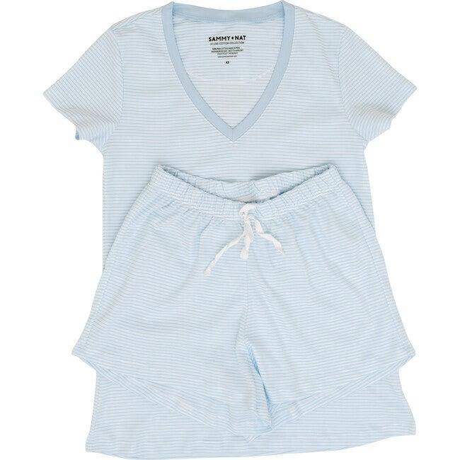 Blue Stripe Women's Pima Pajama Set