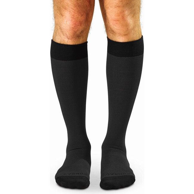 Knee-high Compression Socks, Slate/Black Colorblock
