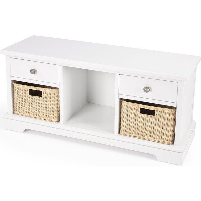 Asya Storange Bench, White