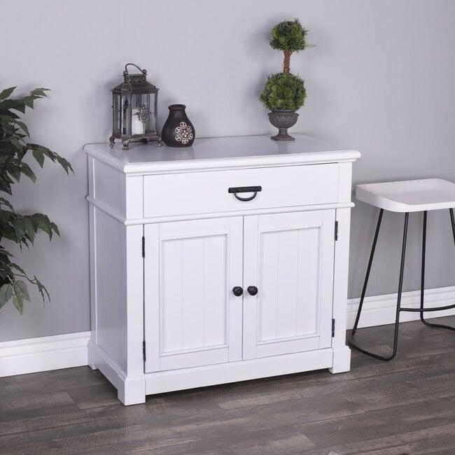 Alek Solid Wood Storange Chest, White